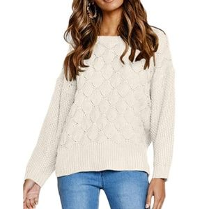 GENDOYLN Knit Pullover Sweater